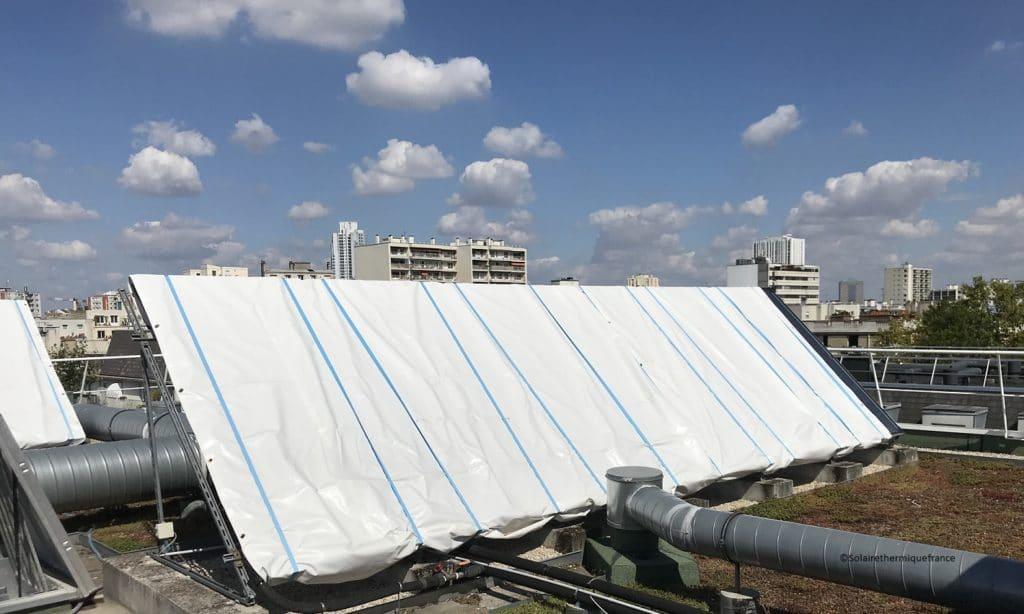 Read more about the article Bâcher les capteurs solaires c'est très utile !