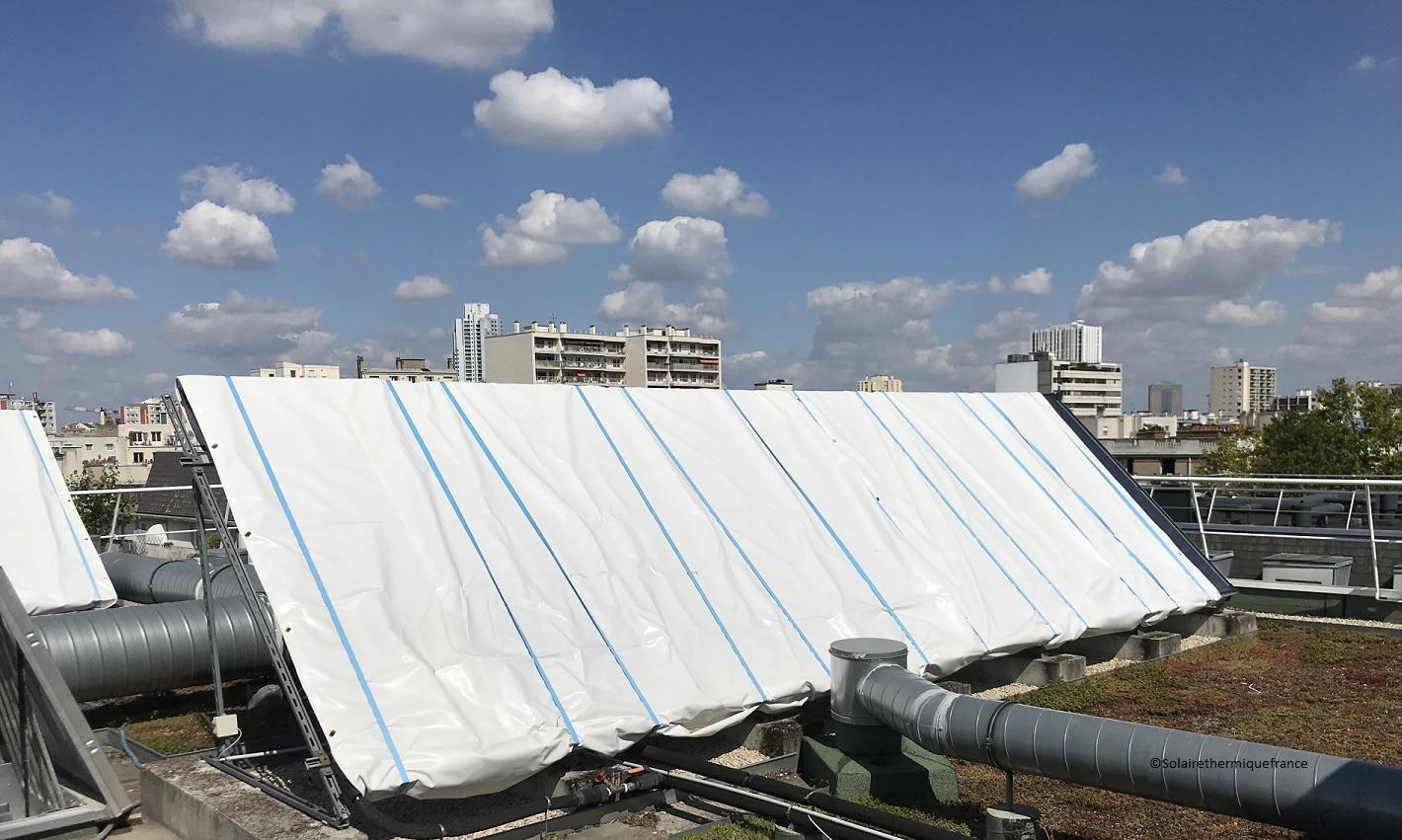 Bâcher les capteurs solaires c'est très utile !